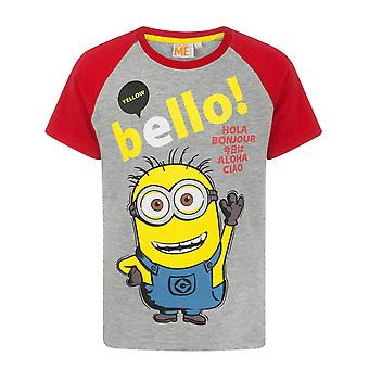 Despicable Me Bello Minion Grey Boy's T-Shirt