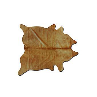 6' x 7' טבעי וזהב אמיתי עור פרה אזור שטיח