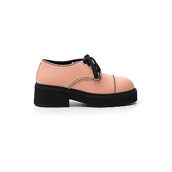 Marni Alms003004lv81700c10 Women's Pink Leather Lace-up Shoes