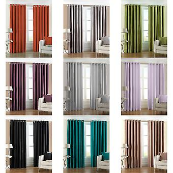 Riva Home Fiji Faux Silk Ringtop Curtains