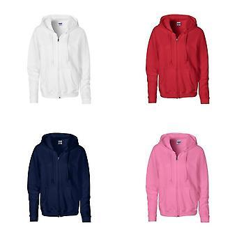 Gildan Heavy Blend Ladies Full Zip Hood Sweat / Sweatshirt Hoodie