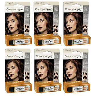 Cover Your Gray Hair Color Stick Light Brown/Blonde (6- PACK)