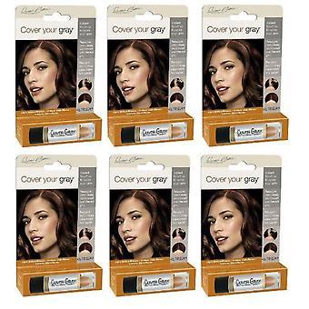 Coprire il vostro capelli grigi colore Stick marrone/biondo chiaro (6-PACK)