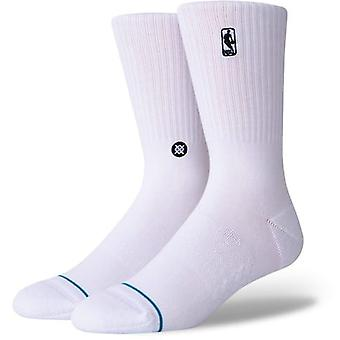 Stance Logoman Crew Socks in White