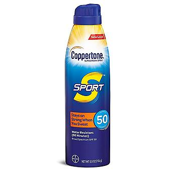 Coppertone sport sunscreen continuous spray, spf 50, 5.5 oz