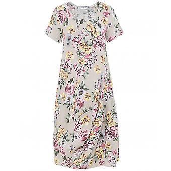Mustikka Italia Pellava lyhythihainen kukka mekko