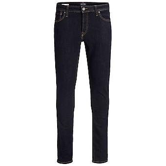 Jack and Jones Mens Slim Jeans Button Fastening Zip Fly Trousers Pants Lightweight