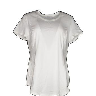 Isaac Mizrahi Live! Damen's Top Short Sleeve Peplum Top Weiß A305241 PTC