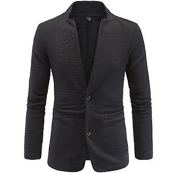 Allthemen Men's Suit Jacket Cotton Blend Casual Spliced Suit Veste
