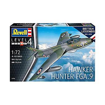 Revell 3908 100 Jaar RAF Hawker Hunter FGA.9/Mk.58 1:72 Schaal Plastic Model Kit