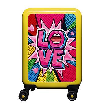 meinTrolley Love S, 4 Rollen, 55 cm, 32  L, Gelb