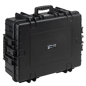 B&W Outdoor Case Typ 6500, Würfelschaum, Schwarz