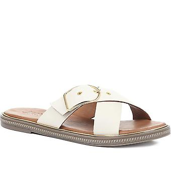Jones Bootmaker Womens Mali Leather Slider Sandals
