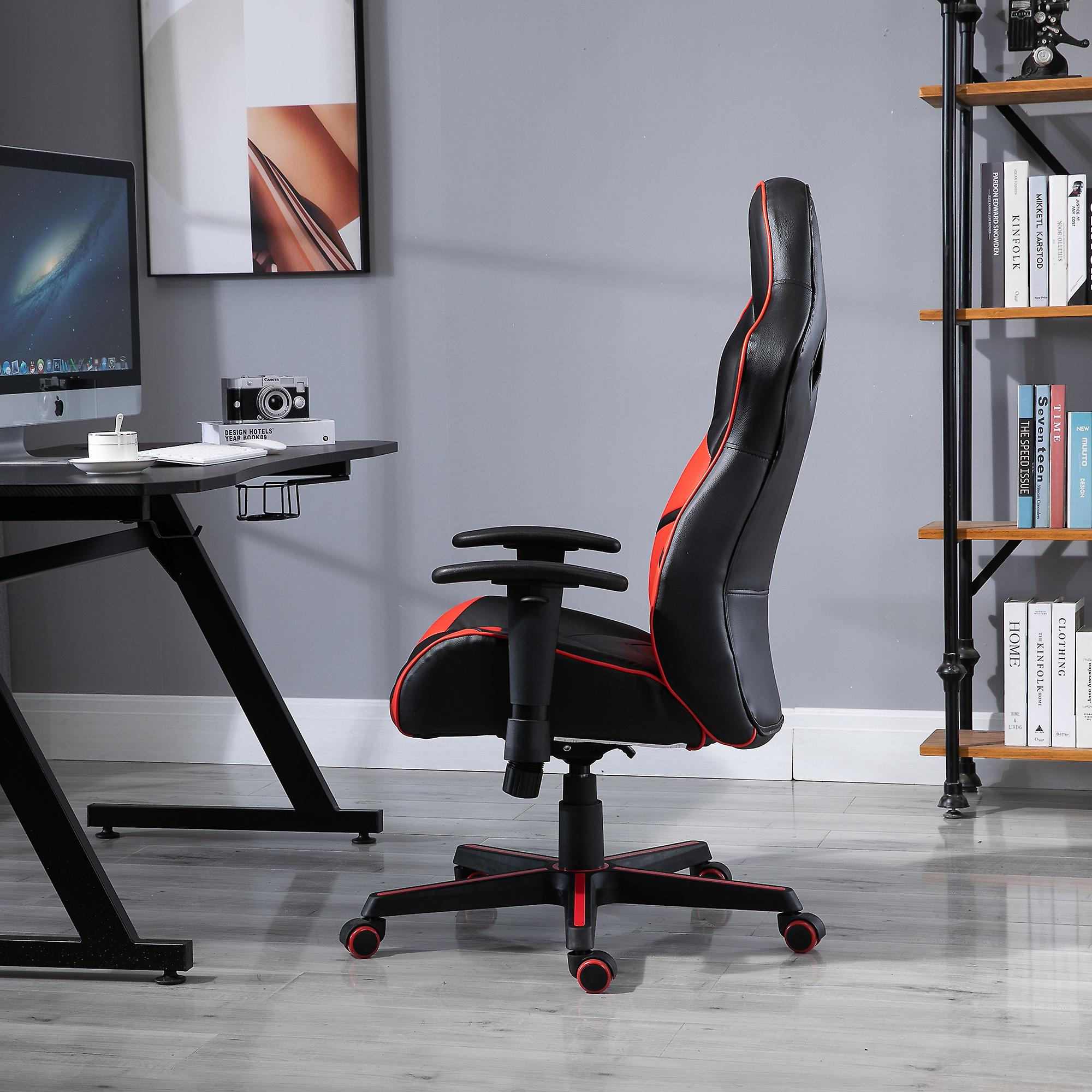 Vinsetto PU Leather Gaming Chair Stylish PU Leather Red