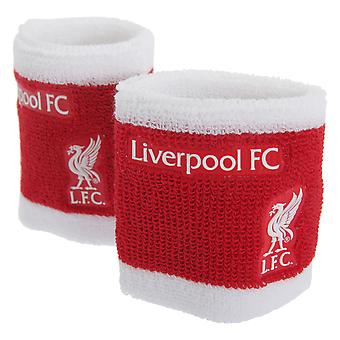 Liverpool FC Official 2 Tone Football Crest Sport Wristbands (Pack Of 2)