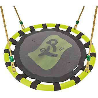 tp toys nest swing seat 85 cm diameter green and black garden playground