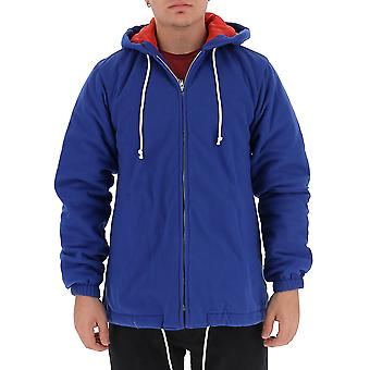 Comme Des Garçons Shirt W271731 Men's Blue Polyester Outerwear Jacket