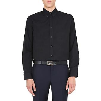 Givenchy Bm60h0109f001 Men's Zwart Katoenen Shirt