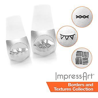 ImpressArt Border and Texture Design Metal Stamping, Metal Stamps, 3mm, 6mm