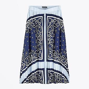 Scotch & Soda  - Pleated Satin Skirt - Blue