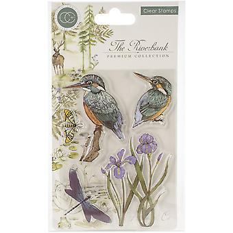 Craft Consortium The Riverbank Clear Stamps Kingfisher
