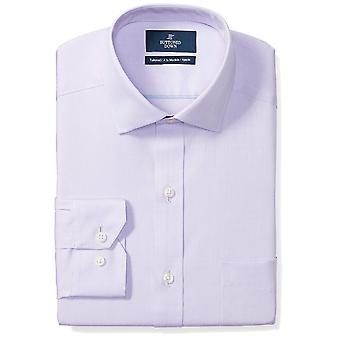 "BUTTONED DOWN Men's Tailored Fit Spread-Collar Solid Non-Iron Dress Shirt (Pocket), Purple, 15"" Neck 34"" Sleeve"