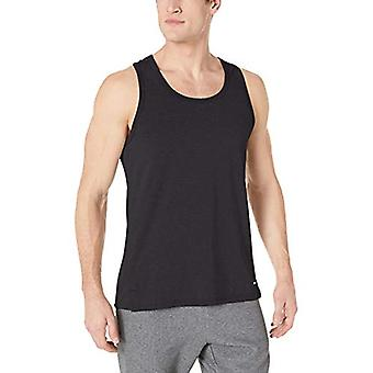 أساسيات الرجال & apos;ق أداء القطن خزان أعلى قميص, أسود, الصغيرة