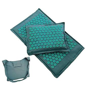 Lotus Spike Acupressure Massage Mat And Pillow Set - Yoga Acupuncture Muscle