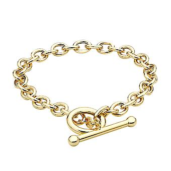 9ct Yellow Gold Link Chain Bracelet for Women Size 7