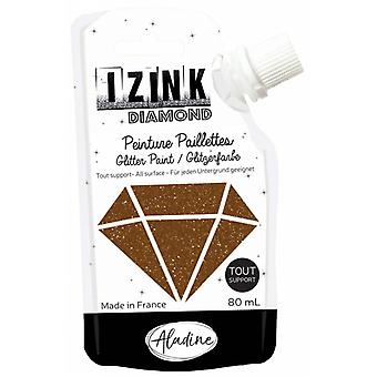 Aladine Izink Diamond Glitter Paint Brown 80ml.