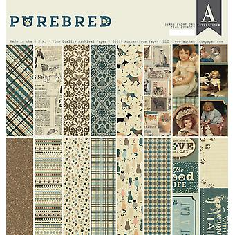 Authentique Purebred 12x12 Inch Paper Pad