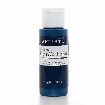 Peinture acrylique Docrafts (2oz) - Bleu nuit (DOO 763230)