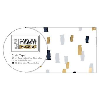 Papermania Capsule Elements Metallic Craft Tape Multi Dash (3m) (PMA 462224)
