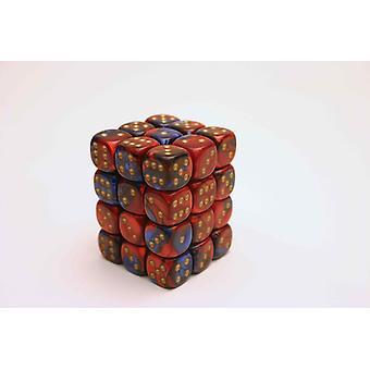 Chessex Gemini 12mm D6 Block - Blue-Red/gold