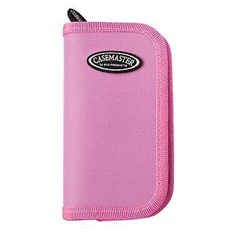 36-0802-12, Casemaster Deluxe Pink Nylon Dart Case