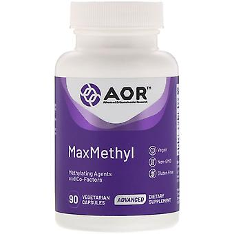 Advanced Orthomolecular Research AOR, MaxMethyl, 90 Capsules végétariennes