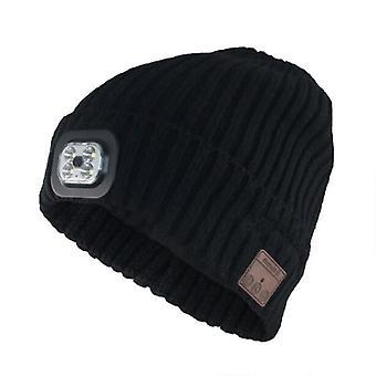 Cappello con cuffie e lampada frontale, Strl taglia unica - Nero