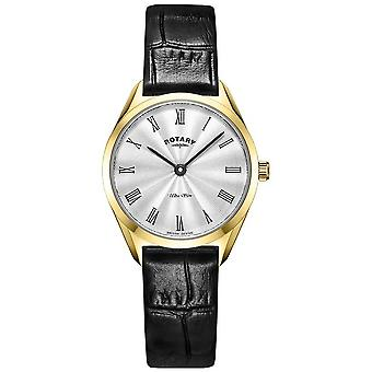 Rotary Ultra Slim Ladies Gold Leather LS08013/01 Watch