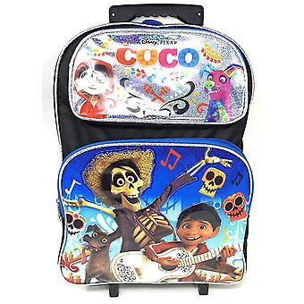Large Rolling Backpack - Disney - CoCo - Silver/Black Shiny 004262-2