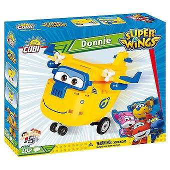 Cobi Super Wings Donnie Flugzeug Kinder Blöcke Ziegel 182Pc kompatibel Alter 5+