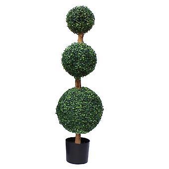 120cm künstliche drei Kugel Topiary Baum UV geschützt