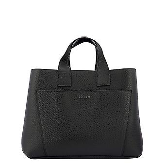 Orciani B02075softnero Women's Black Leather Handtas