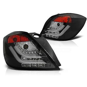 REAR LIGHTS OPEL ASTRA H 03 04-09 3D GTC BLACK LED