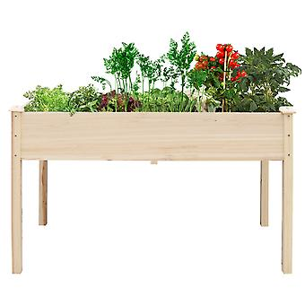 Solid Wood Garden Plant Raised Bed Planter Box