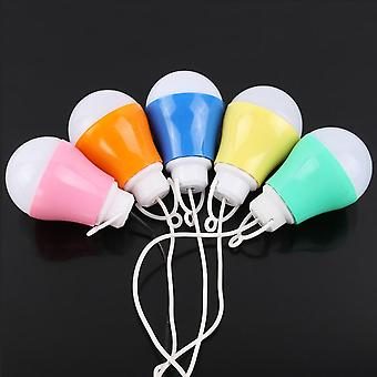 Colorful Pvc 5w Usb Bulb Light Portable Lamp Led For Hiking Camping Tent