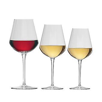 Bormioli Rocco Wine Glasses Set - Small, Medium, Large - 380ml, 470ml, 560ml - 18pc Set
