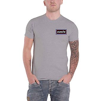 Oasis T Shirt Lines Band Logo new Official Mens Grey