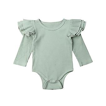 Baby Spring Autumn Clothing Long Sleeve Bodysuit Robbed Solid Jumpsuits Outfit
