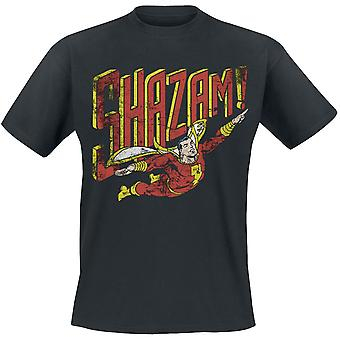 Shazam Unsisex Distressed All The Heroes Print T-Shirt