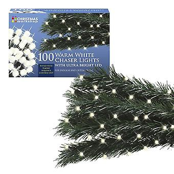 LED Chaser Christmas Lights String Indoor Outdoor Multi-Colour Bright Warm White